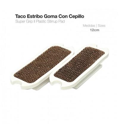 Taco Estribo Goma Con Cepillo (Par)