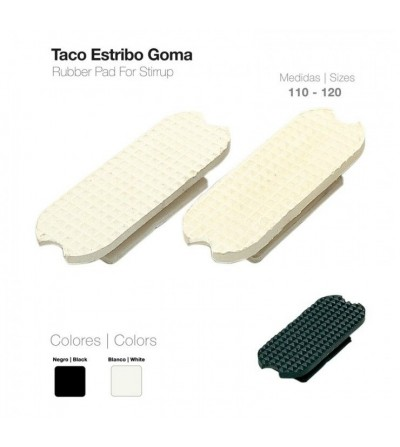 Taco Estribo Goma Negro 21108R-1 (Par)