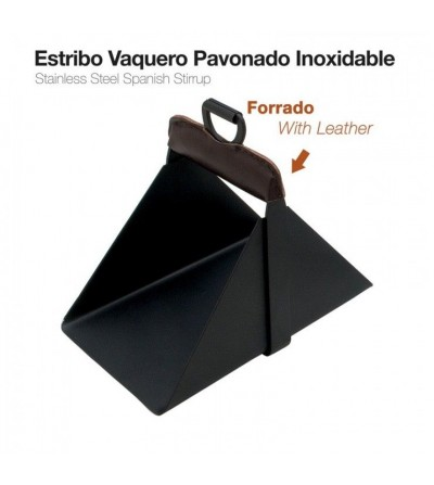 Estribo Vaquero Inoxidable Pavonado