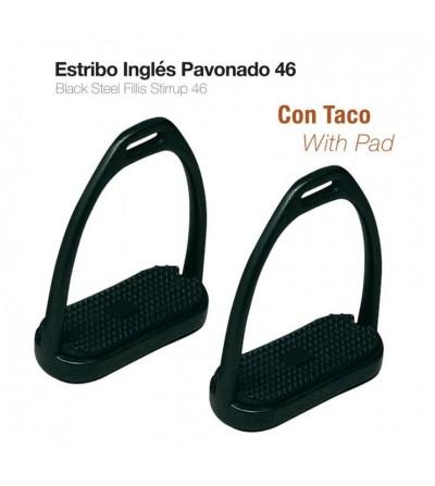 Estribo Inglés Pavonado con Taco