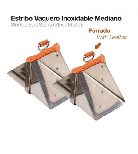 Estribo Vaquero Inoxidable Forrado