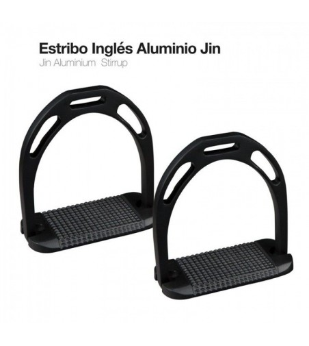 Estribo Inglés Aluminio Jin Negro