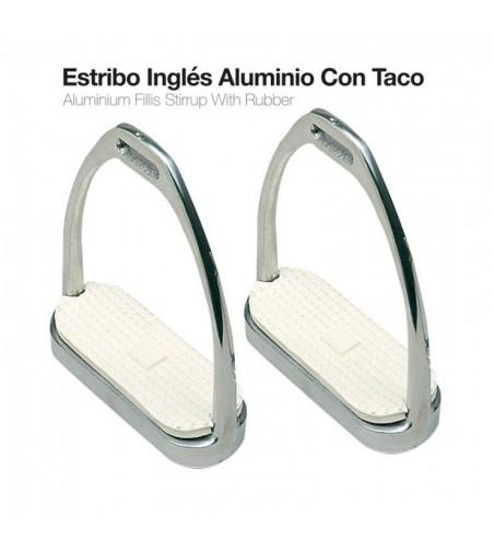 Estribo Aluminio Inglés con Taco