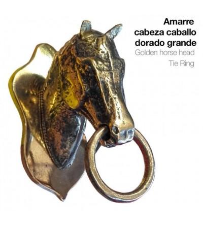Amarre Cabeza de Caballo Dorado Grande