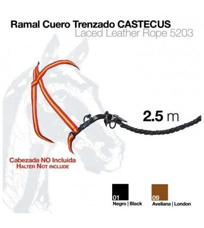 Ramal de Cuero Trenzado Castecus 2,5 m