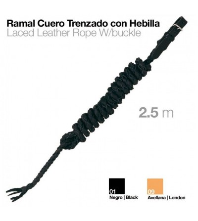 Ramal de Cuero Trenzado con Hebilla 2,5 m