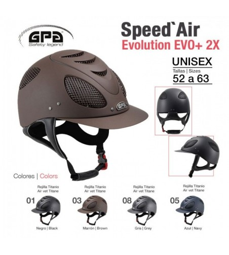 Casco de montar GPA-Speed Air Evolution Bicolor
