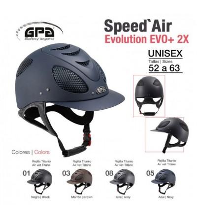Casco de montar GPA-Speed Air Evolution Bicolor