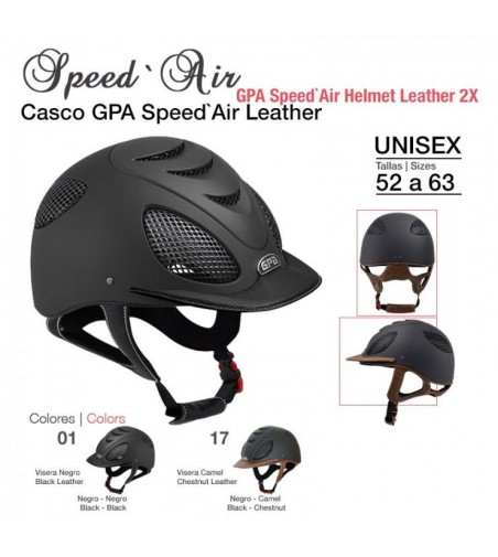 Casco GPA de Cuero Speed Air