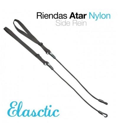 Riendas de Atar Elástico/Nylon Negro