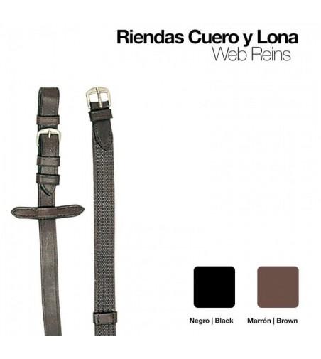 Riendas Cuero-Lona 1805