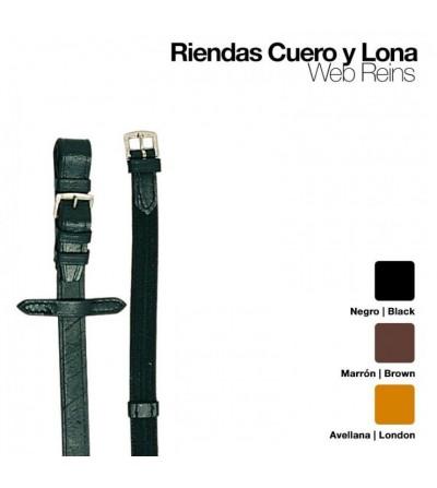 Riendas Cuero-Lona 301