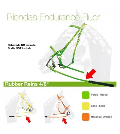 Riendas Endurance Biothane y Goma Fluor