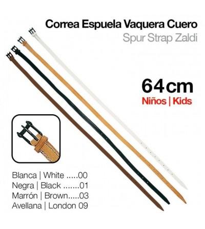 Correa Espuela Vaquera Cuero Niño 64 cm