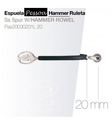 Espuela Pessoa Hammer con Ruleta 20 mm
