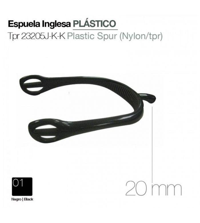 Espuela de Plástico Tpr 23205J-K-K Negra
