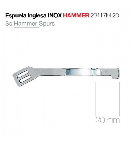 Espuela Inglesa Inoxidable Hammer Gallo 20 mm