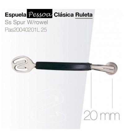 Espuela Pessoa  Clásica con Ruleta Pas20040201