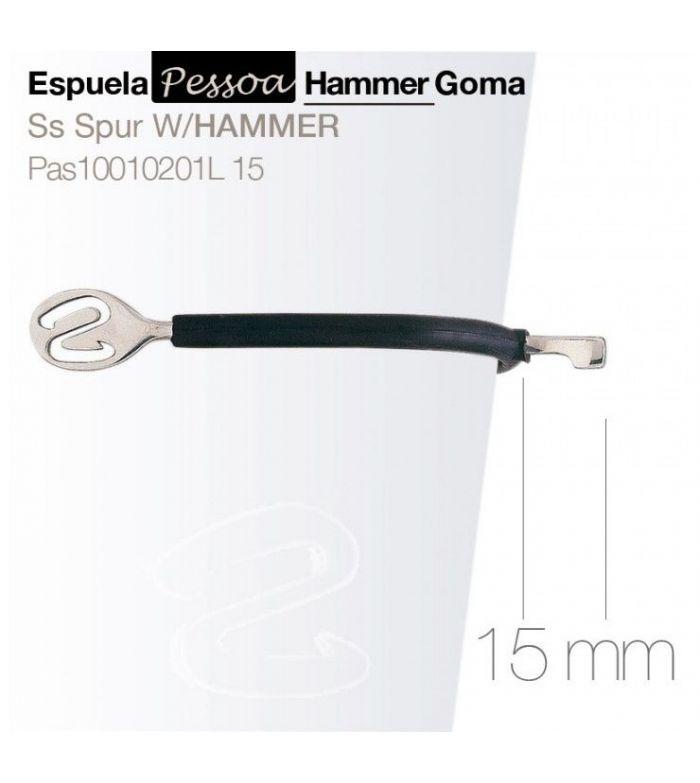 Espuela Inglesa Pessoa Hammer con Goma Pas10010201