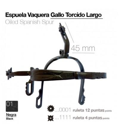 Espuela Vaquera Pavonada Gallo Curvo Largo