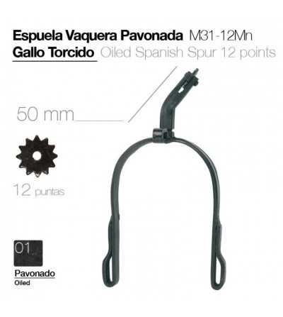 Espuela Vaquera Gallo Torcido Pavonada M31-12