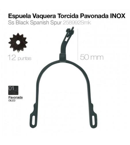 Espuela Vaquera Gallo Torcido Pavonado/Inoxidable 258992Smk