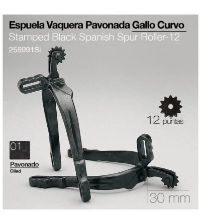 Espuela Vaquera Gallo Curvo Pavonado 12P