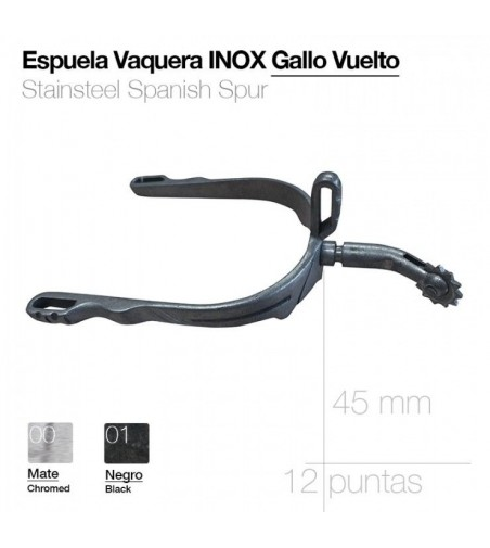 Espuela Vaquera Inoxidable Gallo Vuelto