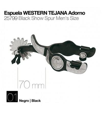 Espuela Tejana con Adorno Negro 25799