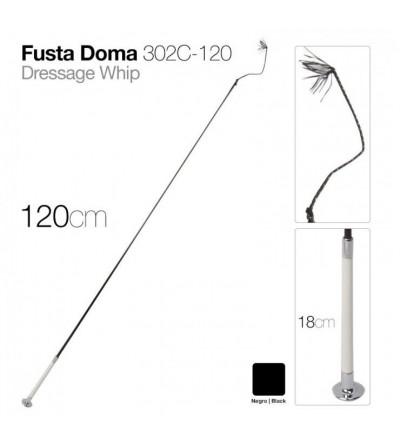 Fusta de Doma 302C-120 Negra 1,20 m