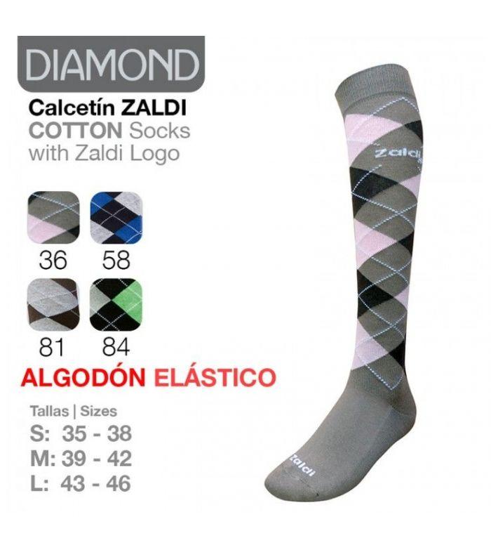 Calcetin Zaldi Algodon Elastico Diamond