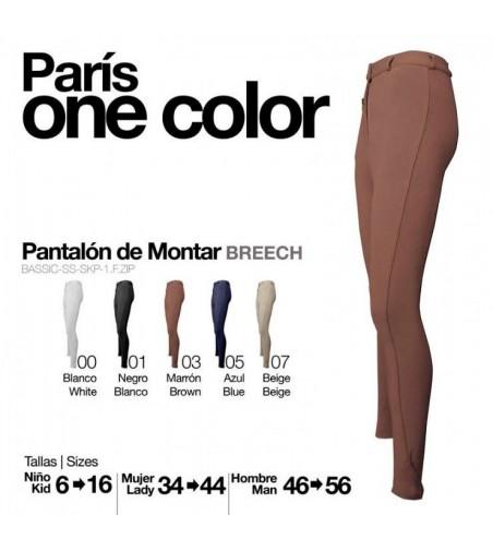 Pantalón Paris One Color Mujer