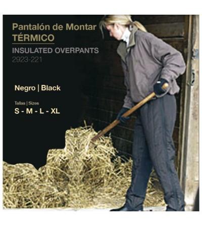 Pantalón Montar Térmico Negro