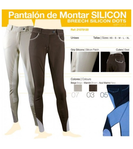 Pantalón de Montar Silicon Azul