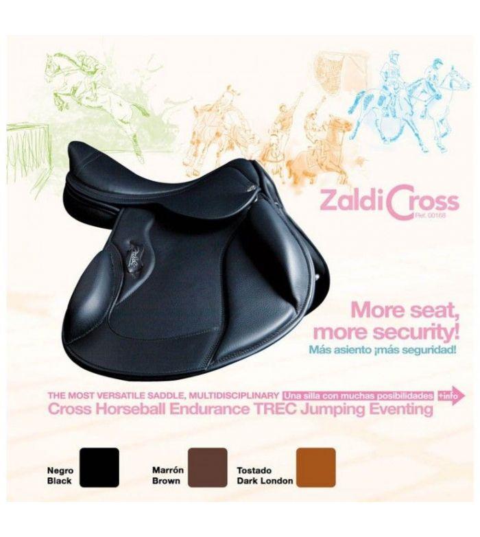 """Silla Completa Zaldi-Cross 17.5"""" Negro"""