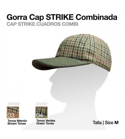 Gorra Cap Strike Combinada Cuadros