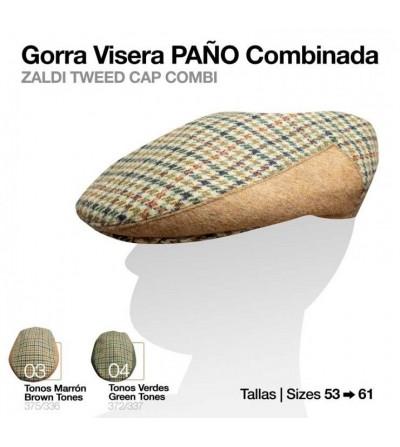 Gorra Visera Paño Combinada Cuadros 375