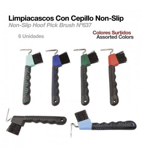 Limpiacascos con Cepillo Non-Slip (6Uds)