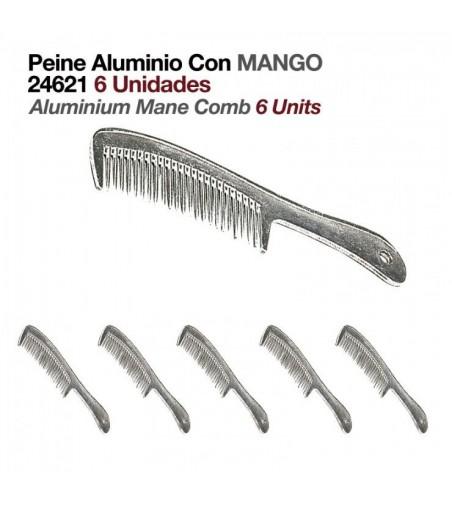Peine de Aluminio con Mango (6 Uds)