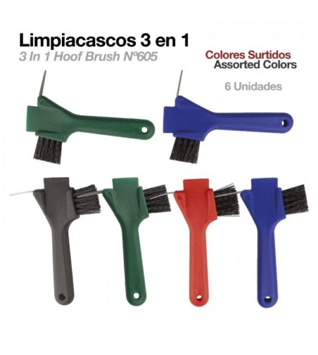 Limpiacascos con Cepillo 3-In-1 605 (6Uds)