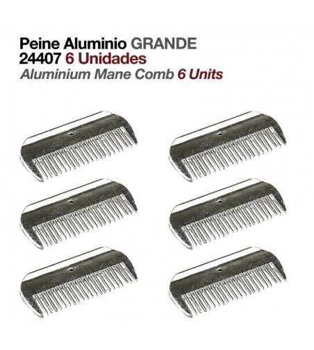 Peine de Aluminio Grande (6 Uds)