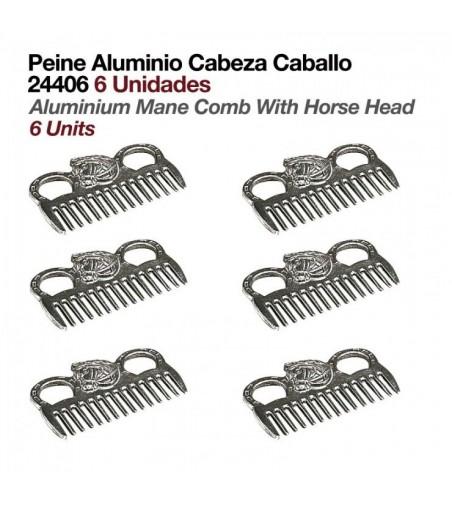Peine de Aluminio con Cabeza de Caballo (6 Uds)