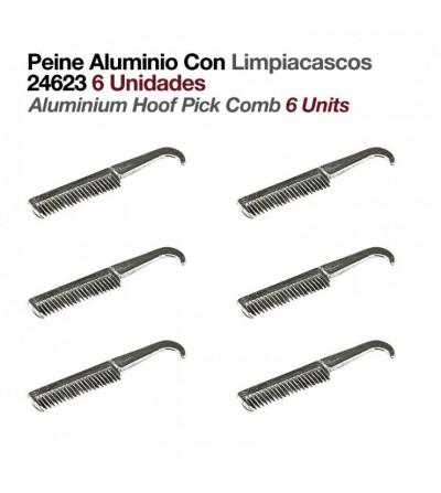 Peine de Aluminio con Limpiacascos (6 Uds)