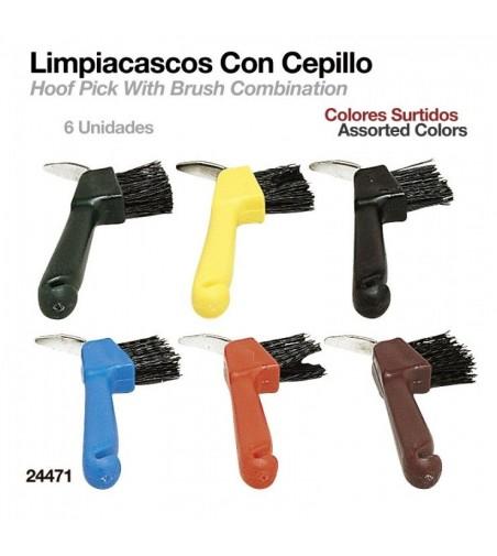 Limpiacascos con Cepillo (6 Uds)