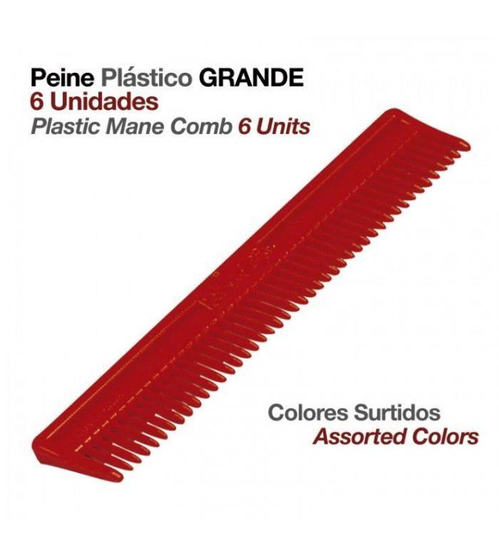 Peine de Plástico Grande (6 Uds)