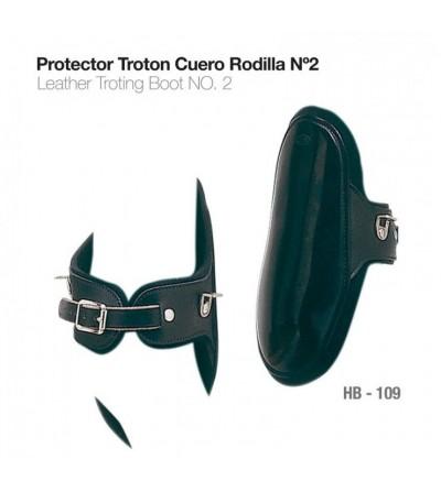 Protector Trotón Cuero Rodilla Nº2 Hb-109 Negro
