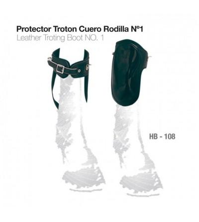 Protector Trotón de Cuero para Rodilla