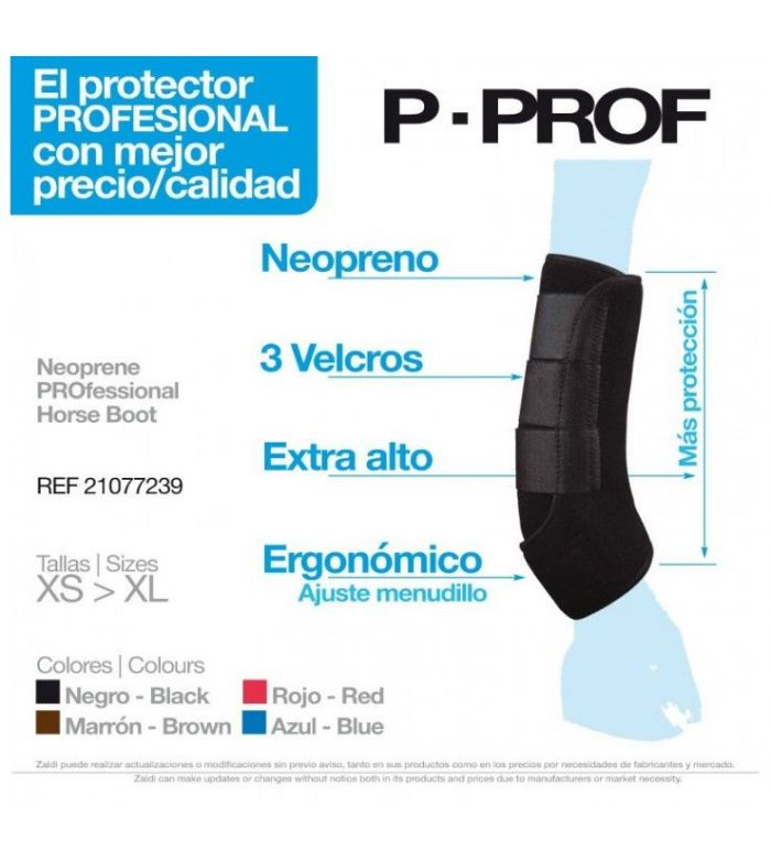 Protector Neopreno P-Prof W007 Negro