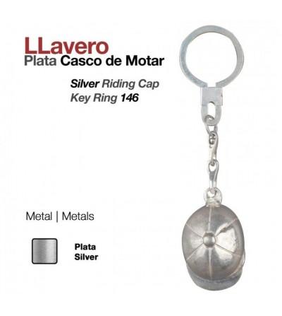 Llavero Plata Casco Montar 146