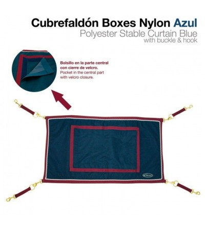 Cubre Faldón para Boxes Nylon Azul